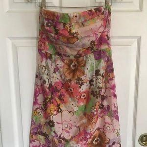 J.crew Watercolor Strapless dress